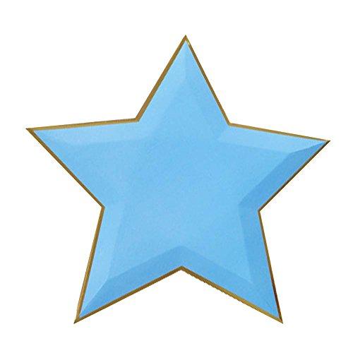 Koala Superstore 8-Conti Piastre Scuro Blue Star USA e Getta di Carta del Partito Piatto da tavola, 11 ''