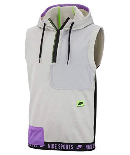 Nike Men's Therma Sleeveless Hooded Training Top Grey