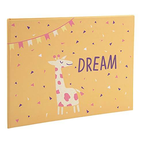 Exacompta 11232E Premium Fotoalbum Dream für 60 Fotos, perfekt für Ihre Baby- und Kinderfotos zum selbstgestalten Fotobuch gelb