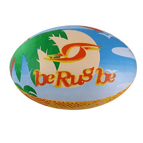 No Mark - Pallone da Beach Rugby, colore: Giallo/Blu