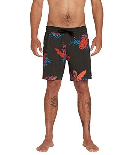 Volcom - Bermuda Trunk 17', Uomo, Costume da Bagno a Pantaloncino, A2512001, Nero, L