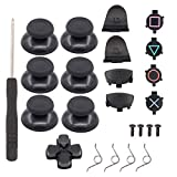 XtremeAmazing 6Pcs Thumbsticks Joystick with ABXY Bullet Buttons and D-pad Small Spring and L1 R1 L2 R2 Trigger Button and Cross Screwdriver Replacement Parts for PlayStation 4 PS4 Controller Gamepad