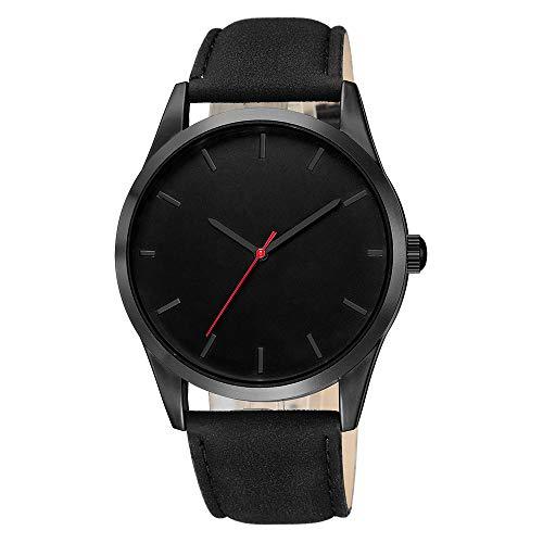 Neuer Trend Armbanduhr Herren Analog Quarzuhr, Männer Mode Klassisch Uhr Lederarmband Wrist Watch ultradünn Zifferblatt Uhr LEEDY
