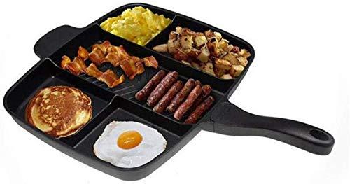 Wzmdd bakplaat 5-in-1 braadpan multifunctionele zwarte vierkante pan