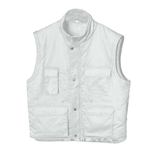 Misemiya gewatteerd vest met meerdere zakken, uniform, industriële werkkleding, laboratoriumkleding, mechanische techniek, klemper, veiligheidsmode voor heren