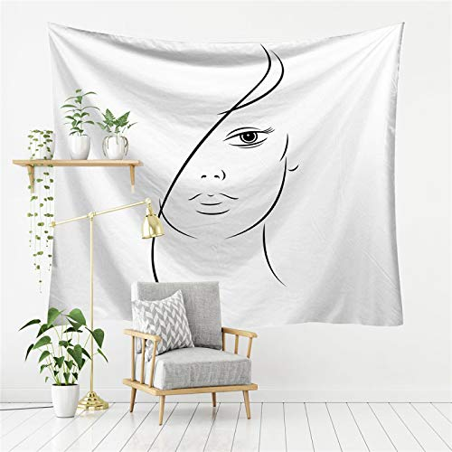 DHHY Tapiz Simple Pintado A Mano, Trazos Simples De Personajes, Tela Impresa para Colgar En La Pared, Decoración del Hogar para Colgar En La Pared150*130cm