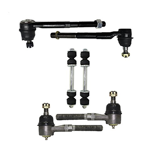 Detroit Axle - New 6-Piece Front Suspension Kit fits 2WD ONLY - (2) Front Stabilizer Sway Bar End Links, All (4) Front Inner & Outer Tie Rod End Links; Expedition F-150 Heritage Navigator Blackwood