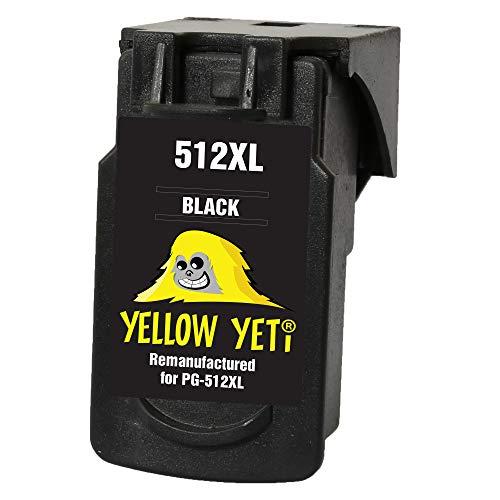 Yellow Yeti PG-512XL PG-512 XL Cartucho de Tinta remanufacturado Negro para Canon Pixma MP230 MP240 MP250 MP252 MP260 MP270 MP280 MP282 MP480 MP490 MP495 MP499 iP2700 iP2702 MX320 MX330 MX350 MX360