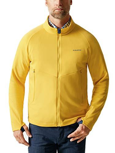 Klepper Herren Active Fleecejacke einfarbig Gelb 56