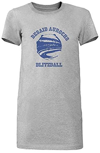 Besaid Aurochs BlitzballLargo Camiseta Vestir Mujer Gris Women's Long tee Dress Grey