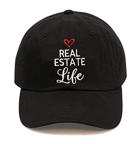 Real Estate Agent Cap (Black, Real Estate Life)