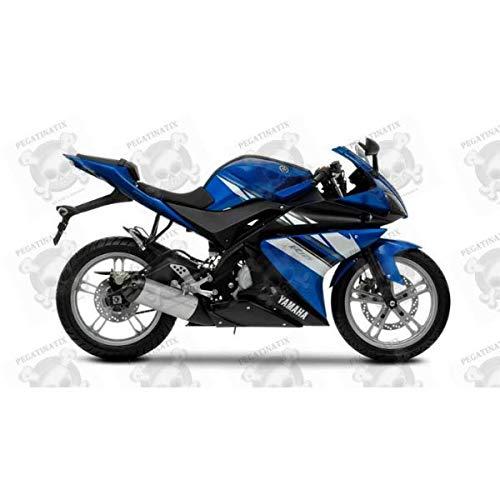 Aufkleber für Yamaha YZF-R125, Baujahr 2009, Blau, EU-Version, Originalgröße