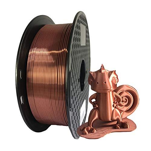 XIAOLUTIANM Printer accessories Silk Purple PLA Filament 1.75mm 500g 3d Printer Filament Silky 3d Pen Printing Materials Pla (Color : Silk Red copper, Size : Free)