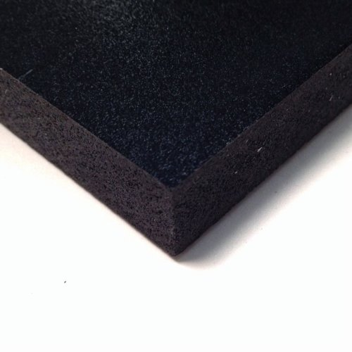 PVC Foam Board Sheet (Celtec) - Black - 12 IN x 24 IN x 10 MM Thick