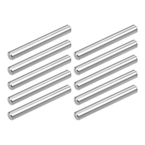 sourcing map 10 STK Zylinderstift Fixierstift aus rostfreiem Stahl 304 5mmx35mm