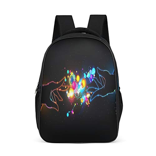 Fineiwillgo Abstract Men and Women Shake Hands Backpack Design Book Bag Vintage Shoulder Bag for Women Camping Bright Gray One Size
