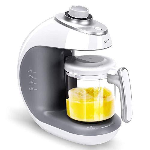 Babynahrungszubereiter KYG BFP-1800MT 5 in 1 Dampfgarer und Mixer für Babynahrung mit Dampfgaren Mixen Aufwärmen Auftauen und Sterilisieren 220-240 V Baby Küchenmaschine (weiß)