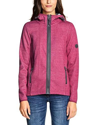 Cecil Damen 252904 Sweatjacke, Rosa (Beetroot pink Melange 11801), Large (Herstellergröße:L)