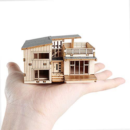 3D-Puzzle aus Holz, Stadthaus, Bastelset, Baumodell, zum Selbermachen, kann gefärbt werden