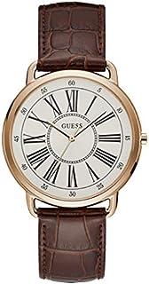 ساعة انيقة للنساء من جيس، هيكل ستانلس ستيل ومينا بيضاء، عرض انالوج، W1068L7