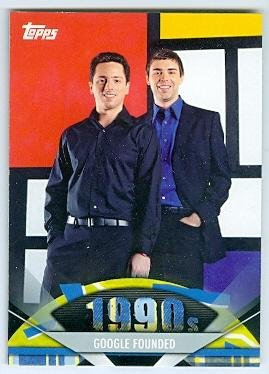 Google trading card 2011 Topps #175 Larry Page and Sergey Brin