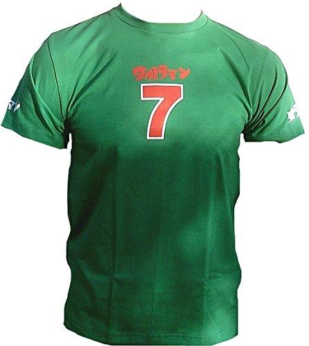 UV Ultra Violent Burton T-shirt pour homme Vert 7 Sept Sieben Nummer Nombre Asie projet Japon Lucky Sport Club Star T-shirt Clubwear Must Have, - Vert
