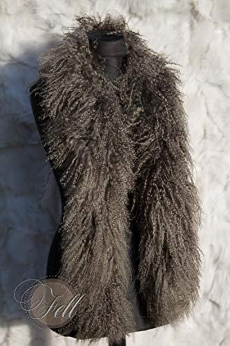 Stola Boa Schal Tibetlamm Tibetlammfell 150cm Fallen Rock Taupe