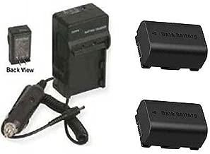 2 BN-VG114 BN-VG114E BN-VG114U BN-VG114US Batteries + Charger for JVC GZ-E200BUS
