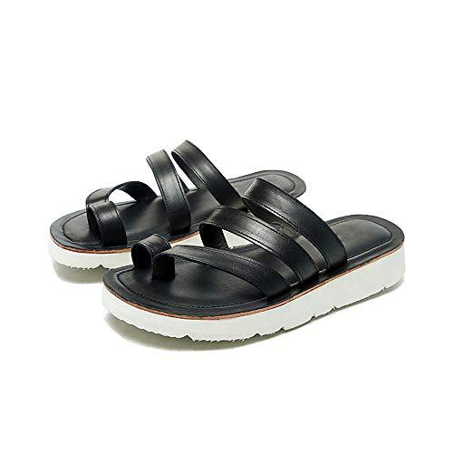 XCBW Sandalias de Verano Retro para Mujer Zapatos cómodos de Apoyo Zapatos...