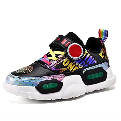LZCW LED Intermitentes Zapatillas Casual - Kids Niños y Niñas USB Carga Otoño e Invierno Zapatos Deportivos