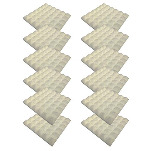 4444 12PC Schallabsorbierende Schaumwand, Schallabsorbierende Baumwolle Für Den Innenbereich Fliesen Dämmung Wanddeko Pyramiden Noppenschaumstoff Breitbandabsorber Decke Foam Feuerhemmend H45
