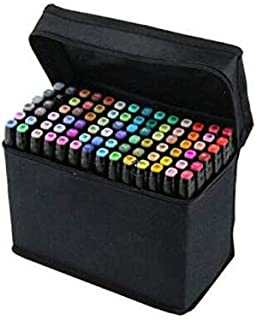 60 Colors Graphic Professional Design Art Twin Tip Marker Pen Series A Black