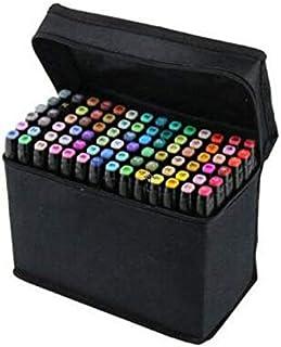 80 Colors Art Sketch Drawing Twin Marker Paiting Pen Set Black