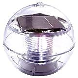 Nexos Solar Schwimmkugel 2 LED weiß Solarlampe Kugel 11 x 11 x 11,5 cm Teichbeleuchtung Solarkugel Dekolicht Solarbeleuchtung