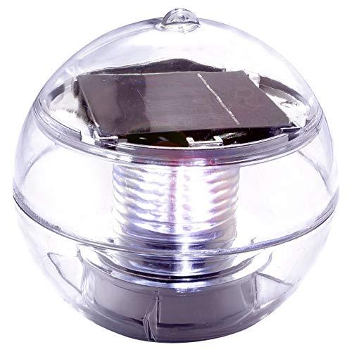 Natación bola solar lámpara solar 11cm 2LED blanco Estanque Iluminación