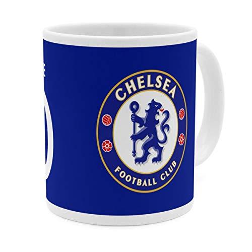PhotoFancy Tasse Chelsea FC mit Namen personalisiert (Chelsea FC Player Shirt)