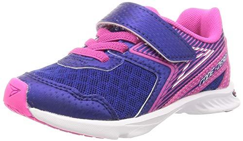 [シュンソク] スニーカー 運動靴 軽量 速乾 15~24.5cm 2E キッズ 女の子 LEJ 6830 ネイビー 17 cm