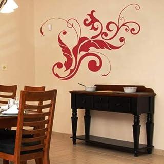 INDIGOS UG Vinilo Decorativo para Pared herraduras 80x56cm W309 Caballo de Animales, Verde, 80x8x56 cm