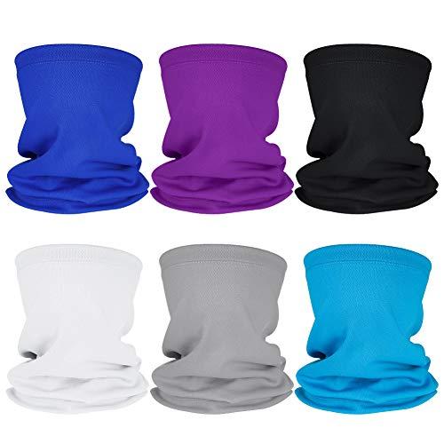 umorismo Nahtlose Bandanas, 6 Stück Multifunktionstuch Schal, Outdoor Funktionstücher Schlauchschal Elastische Sonnenschutz Schal für Outdoor Radsport Motorrad Laufen