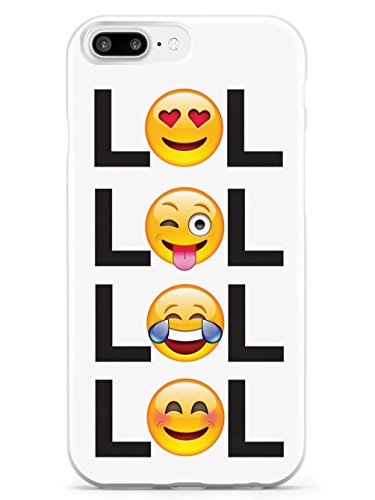 Inspired Cases - 3D Textured iPhone 7 Plus Case - Rubber Bumper Cover - Protective Phone Case for Apple iPhone 7 Plus - LOL Emojis