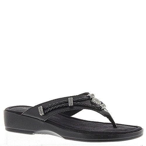 Minnetonka Silverthorne Thong Damen Sandale 12 C/D US Black-Black