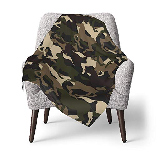 Beautiful Camouflage Horse Throw Blanket Baby Boys Girls Personalized Car Seat Blanket Receiving Blanket One Size