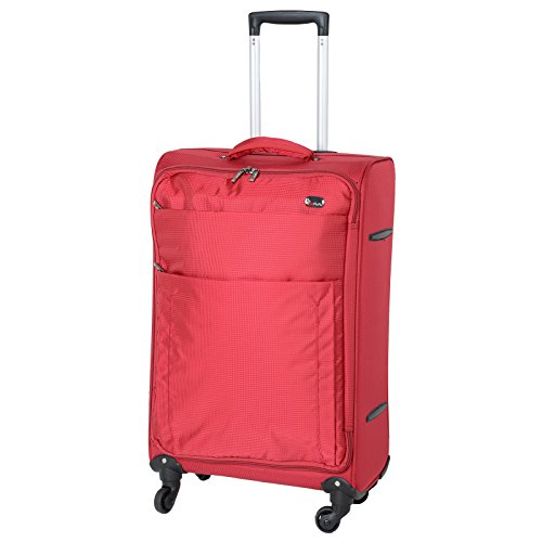 JAM Voyager 19' Red Super Light Trolley Case Wheeled Travel Suitcase Luggage
