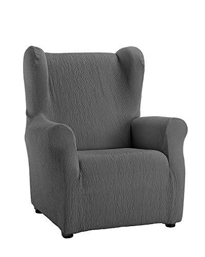 Zebra Textil Elastische Husse für Ohrensessel Beta Größe 1 Sitzer (Standard), Farbe Grau (Mehrere Farben verfügbar)