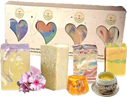 ANI® SAVON ~ Geschenk-Idee ESELSMILCH-SEIFEN –4 tolle Varianten I handgefertigt I Naturseife Frankreich Valentinstag