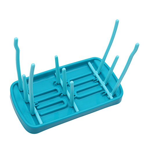 L_shop Baby Rack de séchage de biberon Blue Tri-Fold Drain Rack Rack de séchage Rack Cup Cup