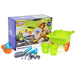 Kids Garden Toys - Have lots of fun with this Little Tikes Wheelbarrow set Garden Tools for Kids - Kids can take part in helping to tidy up the garden with their parents or grandparents Kids Gardening Set - Promotes outside play and activities, Educa...