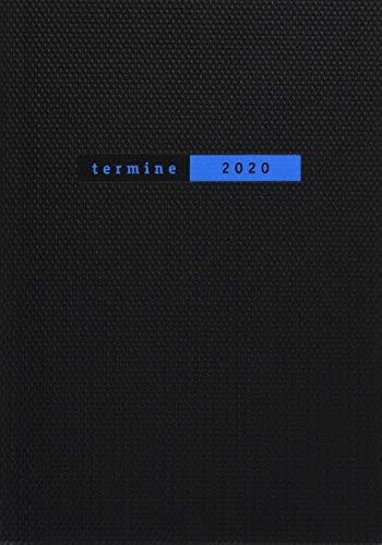 Terminer A6, Struktur schwarz. Taschenkalender 2020. Wochenkalendarium. gebunden. Format 11,6 x 16,3 cm