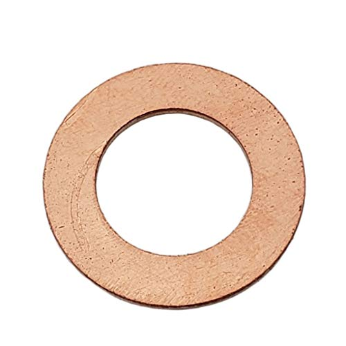 Buy Auto Supply # BAS03543 (50 Pack) M14 Copper Oil Drain Plug Gasket Washer, Aftermarket part Fits in Place of 095-010, 007603014106 & More (I.D: 14.2mm / O.D: 23.8mm)