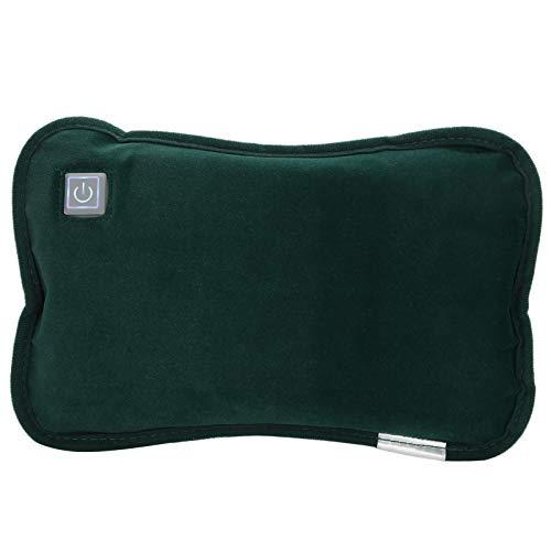 Almohadilla de mano con calefacción USB, cojín con calefacción eléctrica, calentador de manos, alivio del dolor de alta eficiencia, lavable para el hogar, hotel,(Dark green)